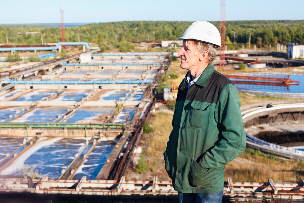 Chemical waste-water treatment in sewage treatment plant Likusta